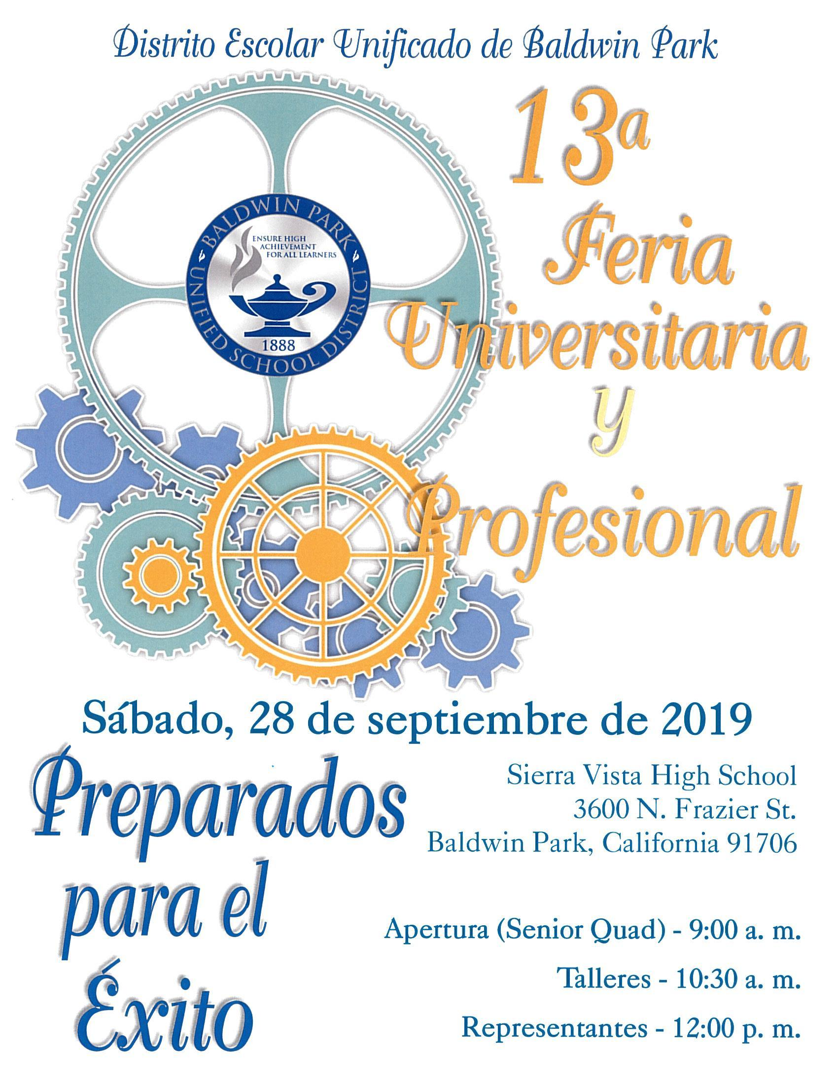 College Fair Spanish Flyer