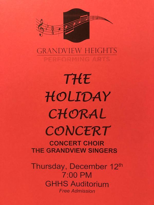 Choral Concert flyer