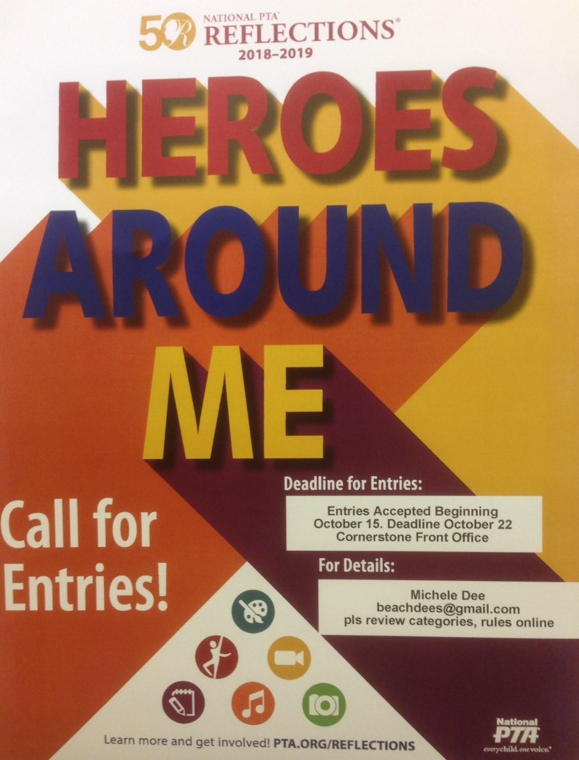 Reflections Poster of Heroes Around Me