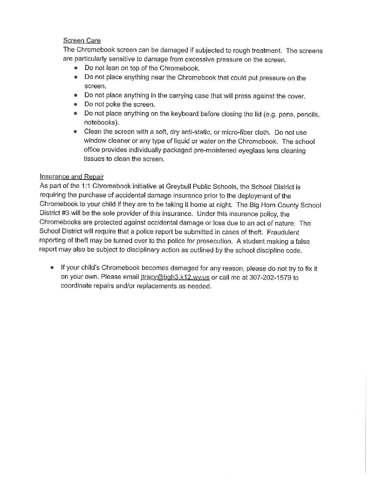 English Parent Letter 4