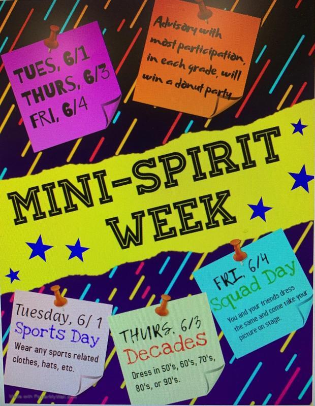 Mini Spirit Week Coming Next Week! Featured Photo