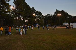 Staff, students, and parents attended fall festival.
