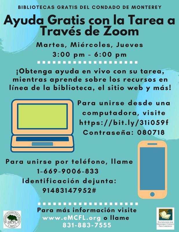 Homework Information in Spanish
