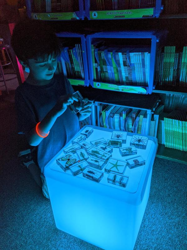 students do a glow activity