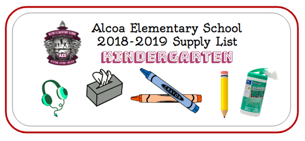 2018-19 Kindergarten Supply List