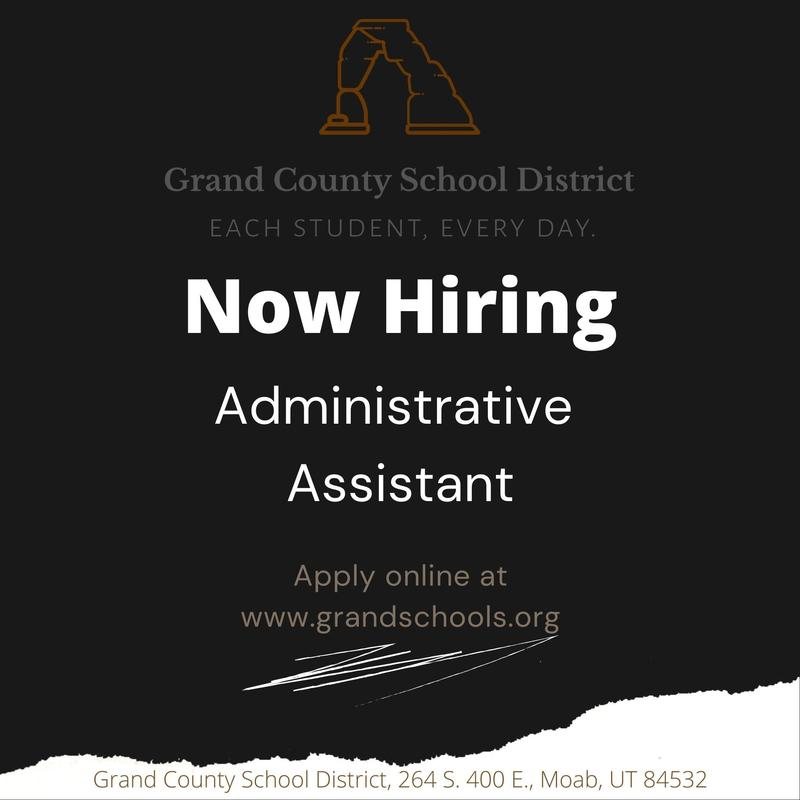 Now hiring administrative assistant at Grand County School District Featured Photo
