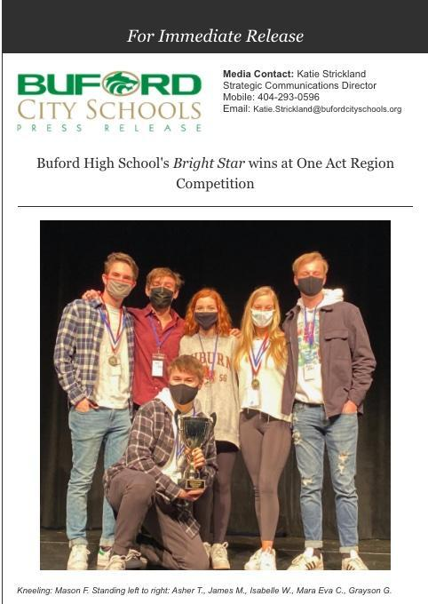 BHS Wins One Act Region