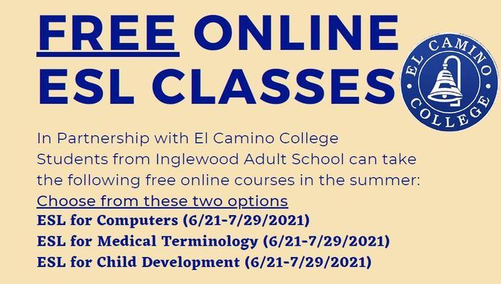 El Camino Free Classes Summer 2021