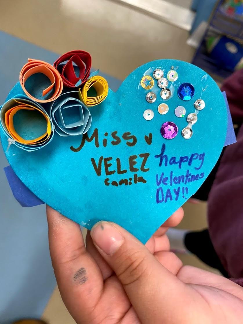 Valentine's card for a teacher