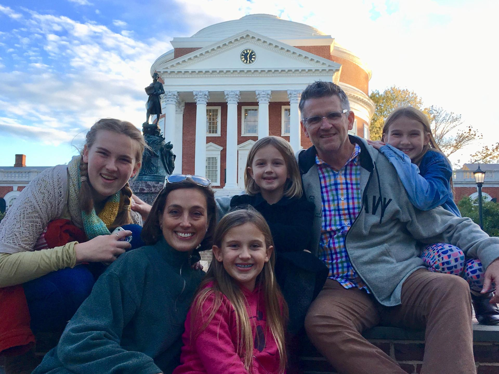 the Brennan family at UVA