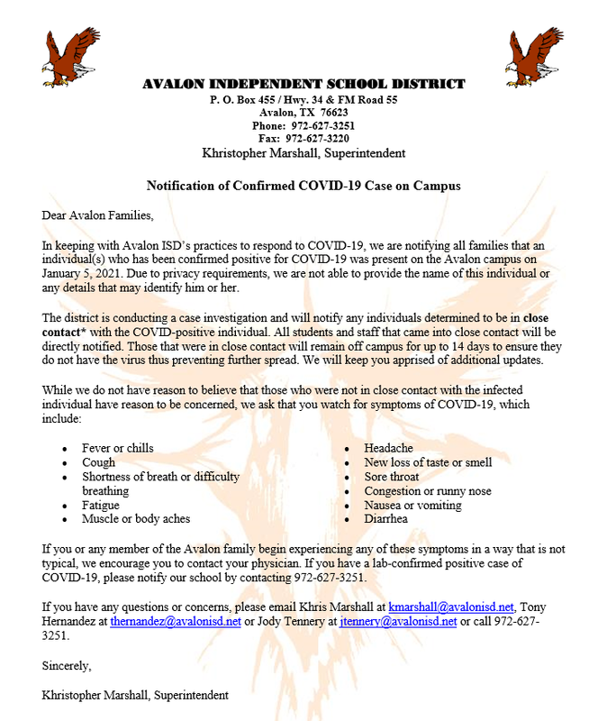 COVID Notice - January 5, 2021 Featured Photo