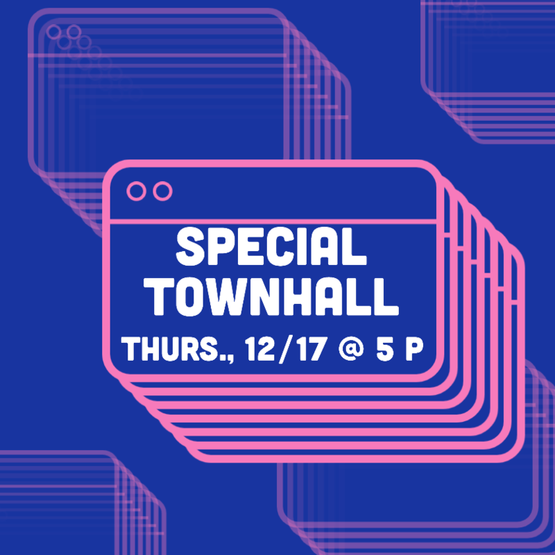 Special Town Hall  12/17 @ 5PM  - Ayuntamiento especial 12/17 @ 5PM Thumbnail Image