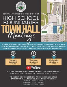 Central Unified Town Hall Meeting flier