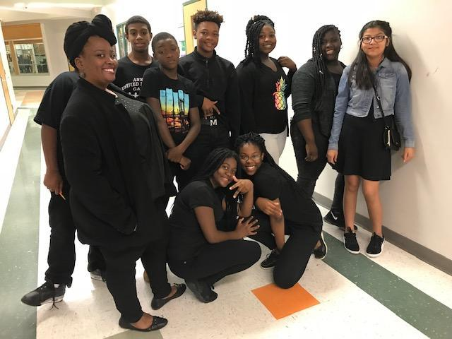 Students dressed in black for Blackout Day