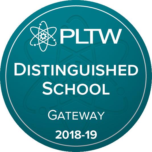 PLTW Distinguished School Badge 2018-19