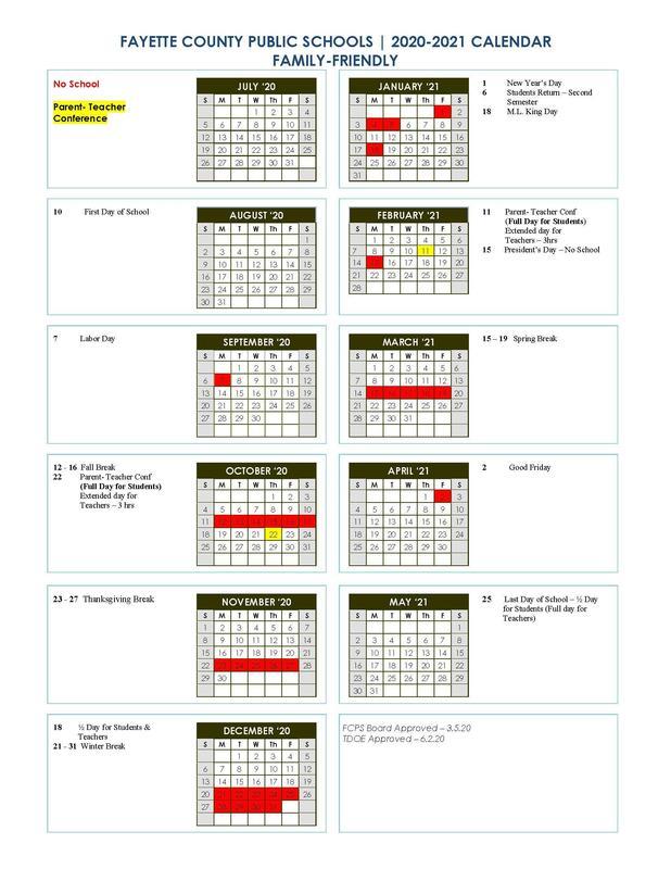 FCPS Calendar 2020-2021 Thumbnail Image