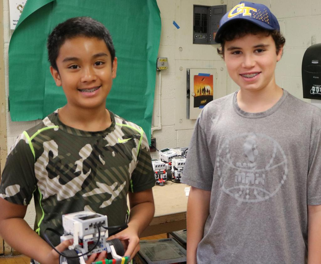 Photo of students enjoying STEM Camp in Westfield.