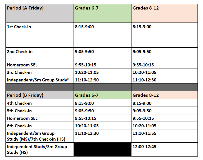 updated schedule 2