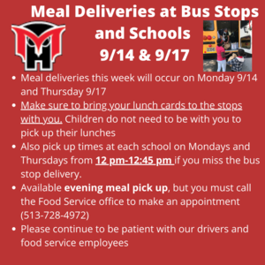meal delivery 9/14