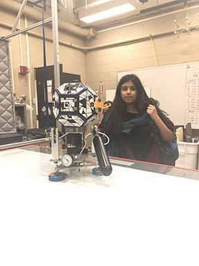 picture of Neha with robot