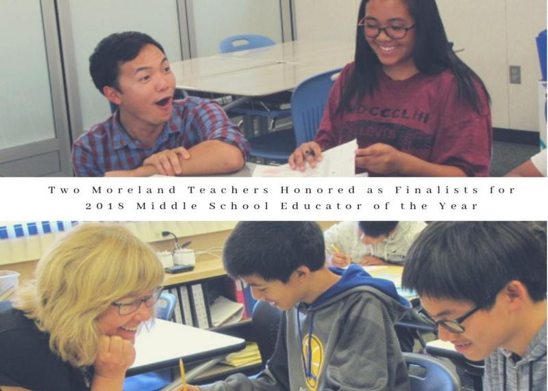 Two Moreland Teachers Honored as Finalists for 2018 Middle School Educator of the Year Thumbnail Image