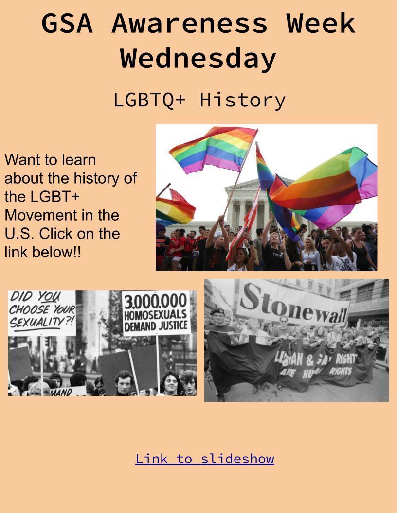 LGBTQ+ Day 3 2020