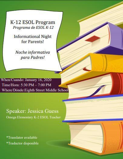 ESOL Parent Information Night Featured Photo