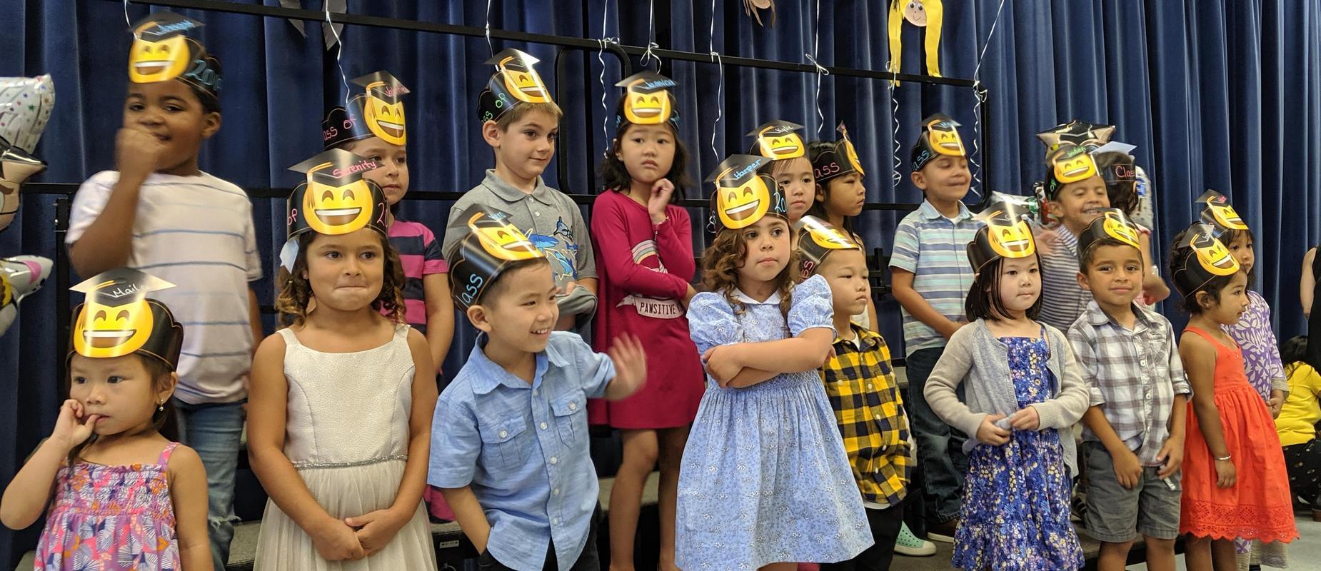 Preschoolers at graduation