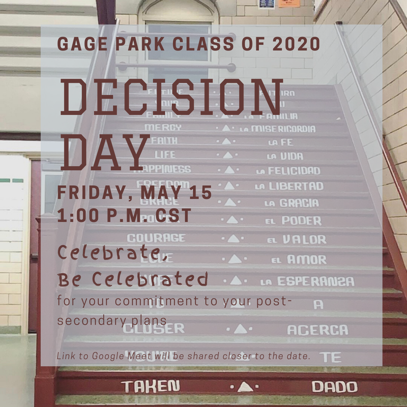 CLASS OF 2020 DECISION DAY IS HERE!!!! Featured Photo