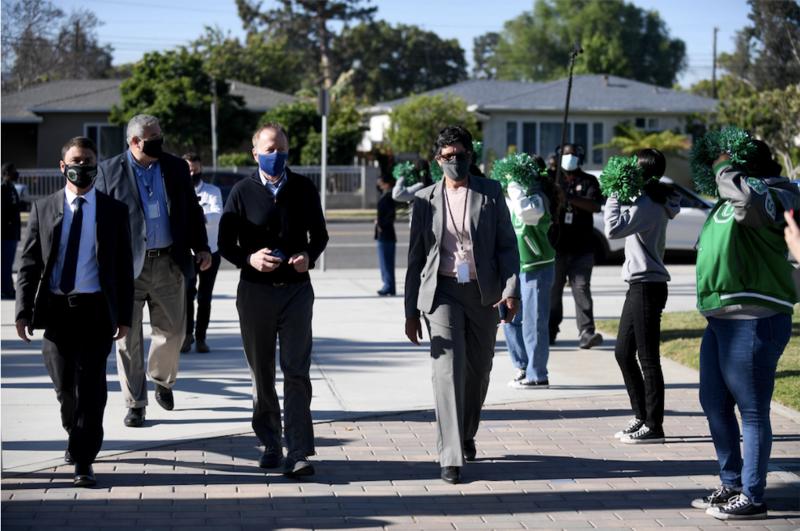 Superintendent Beutner Visits Gardena High School Grand Reopening Featured Photo