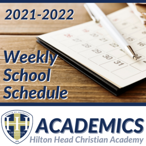 Weekly School Schedule
