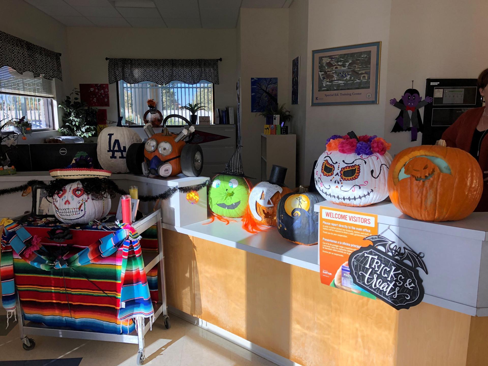 Schuetz Career Center Pumpkin Decorations