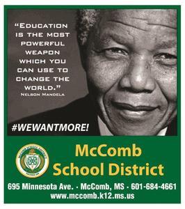 McComb School District Black History Ad 2019