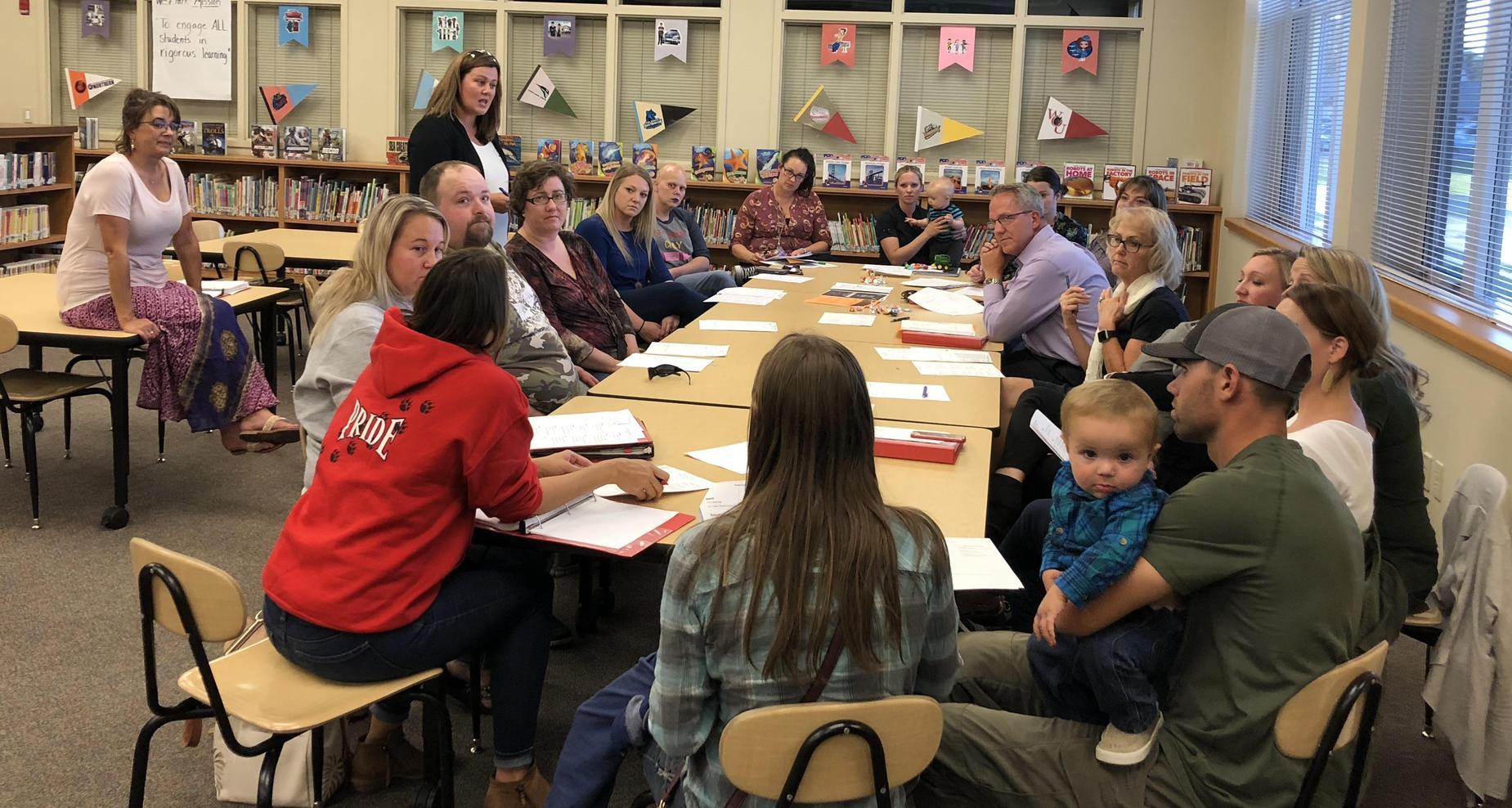 Parent Teacher Organization meeting.