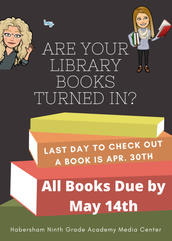 books due by May 14th