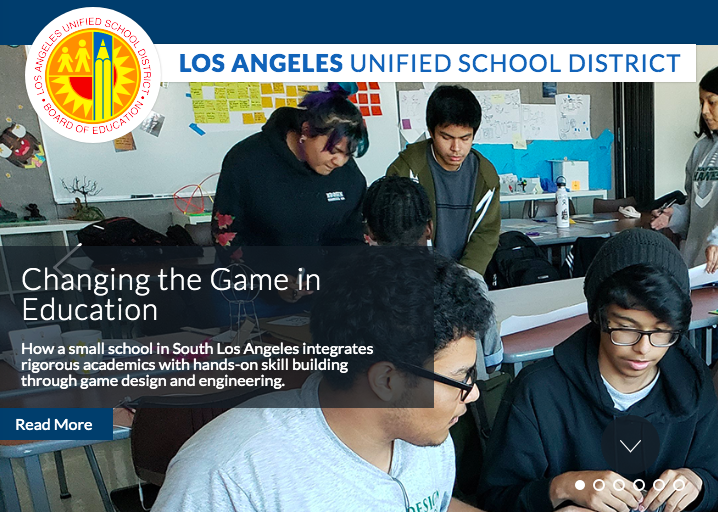 Critical Design and Gaming School Featured on LAUSD Homepage Featured Photo