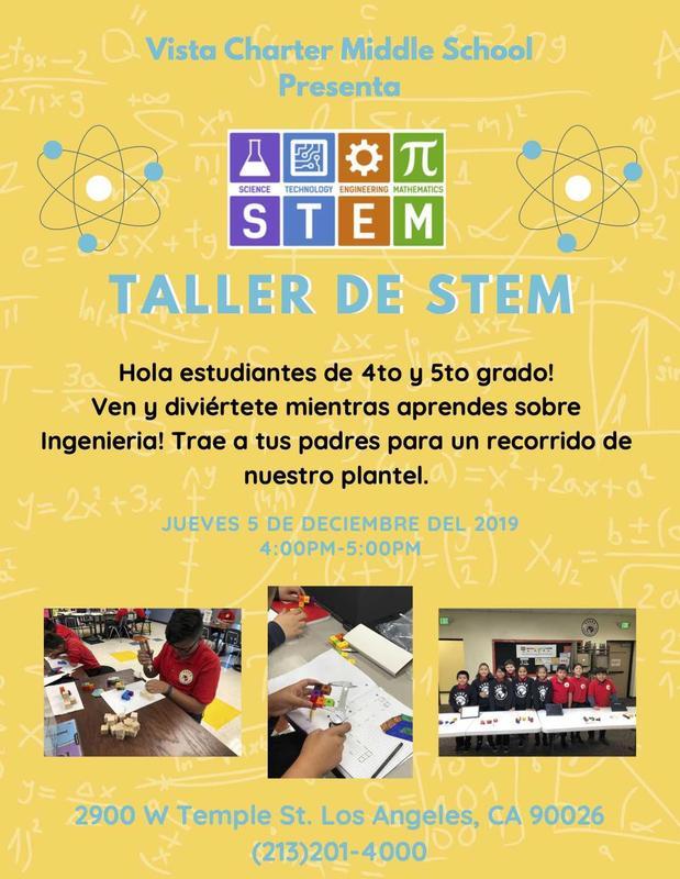 Taller de S.T.E.M. flyer