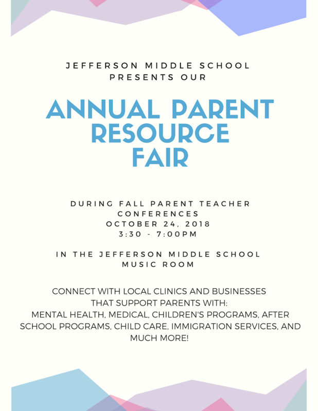 Parent Resource Fair photo