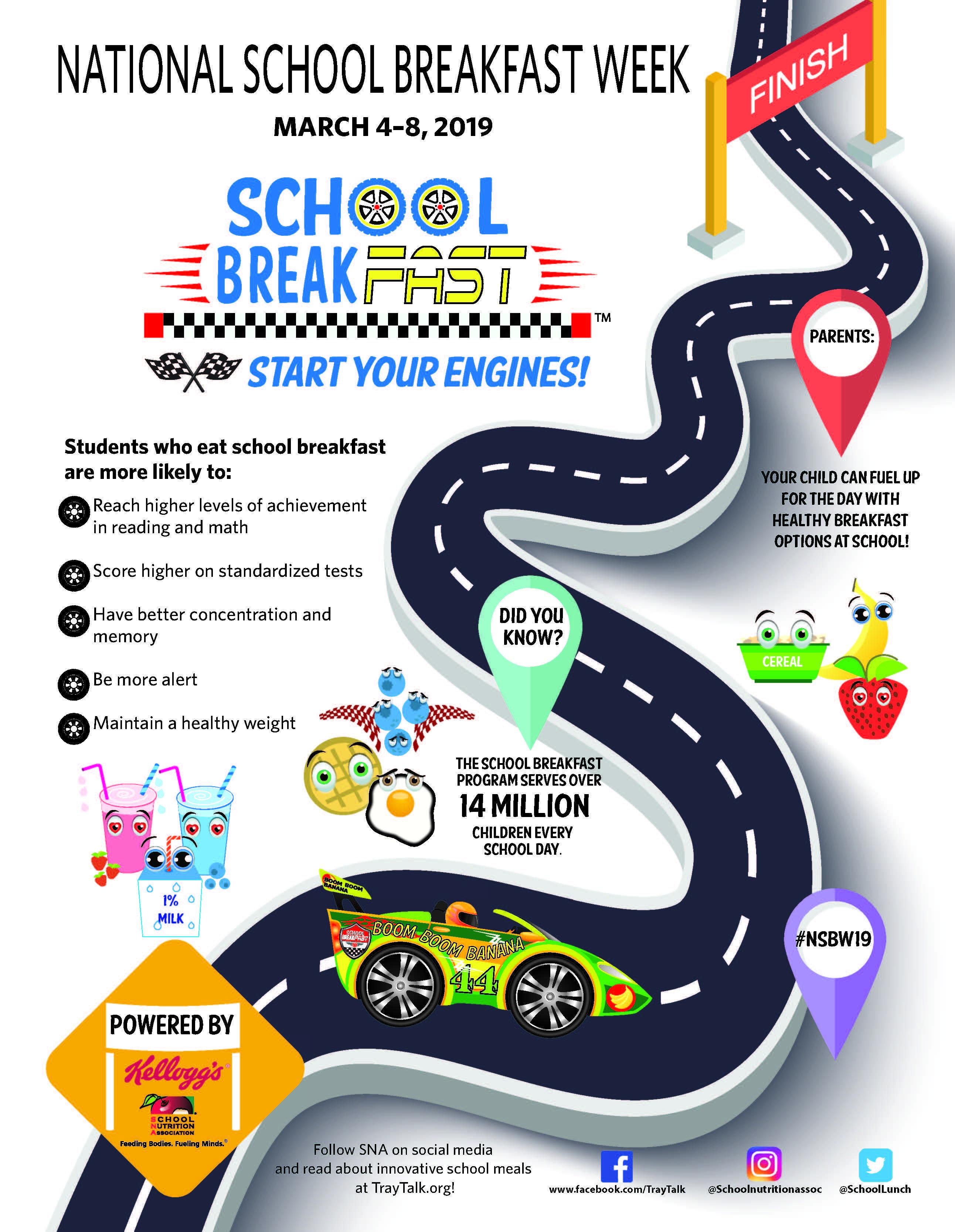 National School Breakfast Week, March 4-8, 2019