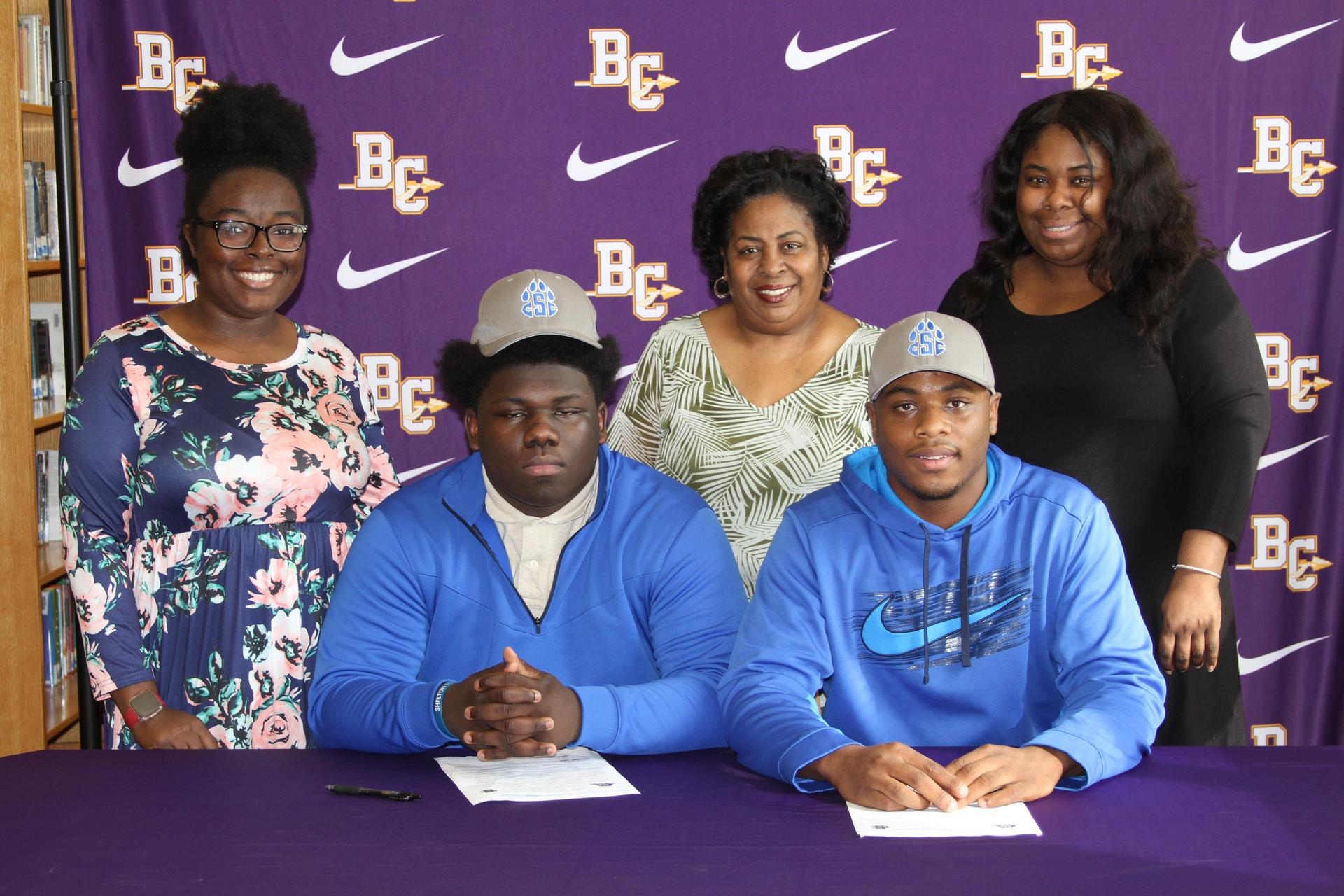 Noah Dukes and Dexter Marsh with family