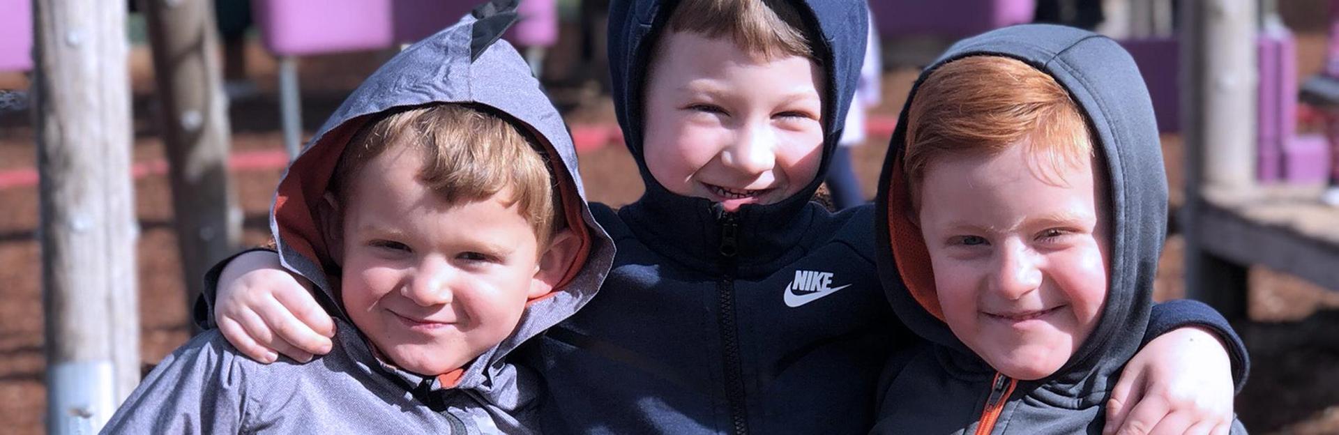 Preschoolers (boys) at recess