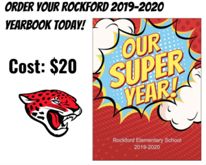 Order your 2019-2020 Yearbook, the cost is $20.