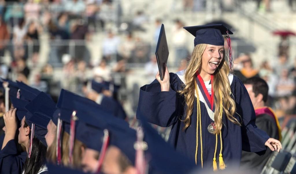 Senior during graduation
