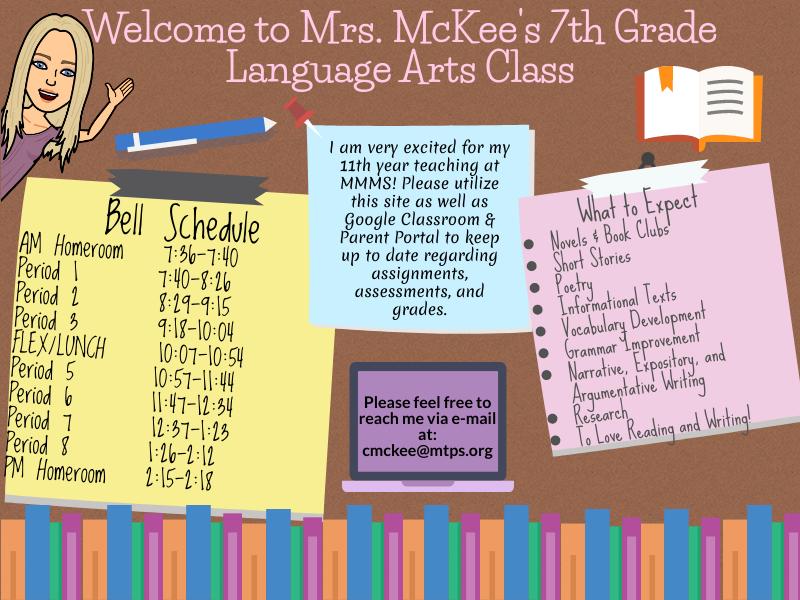 Mrs. McKee's teacher page