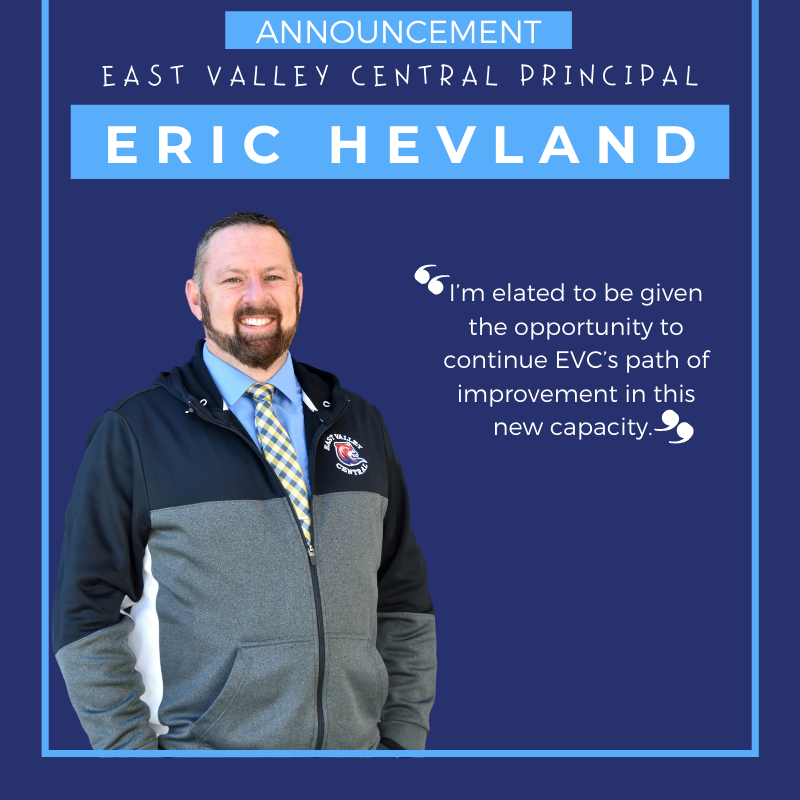 East Valley Central Principal Announced Featured Photo