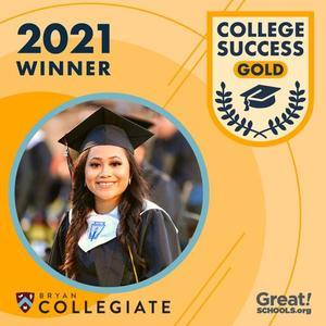 College Success Award Dash Gold Graphic