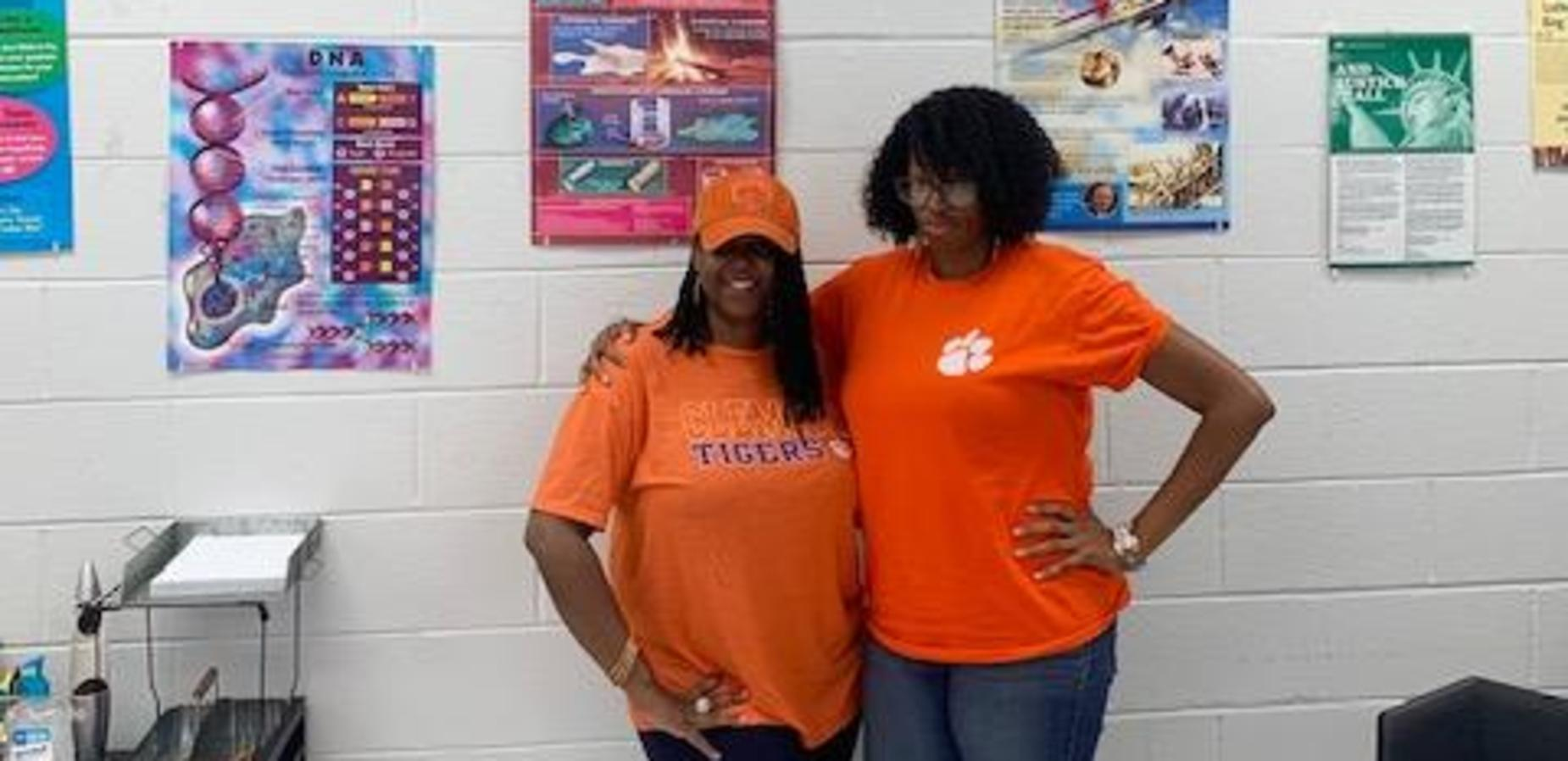 Ms. Gratic and Ms. Ginyard representing THE Clemson Tigers!