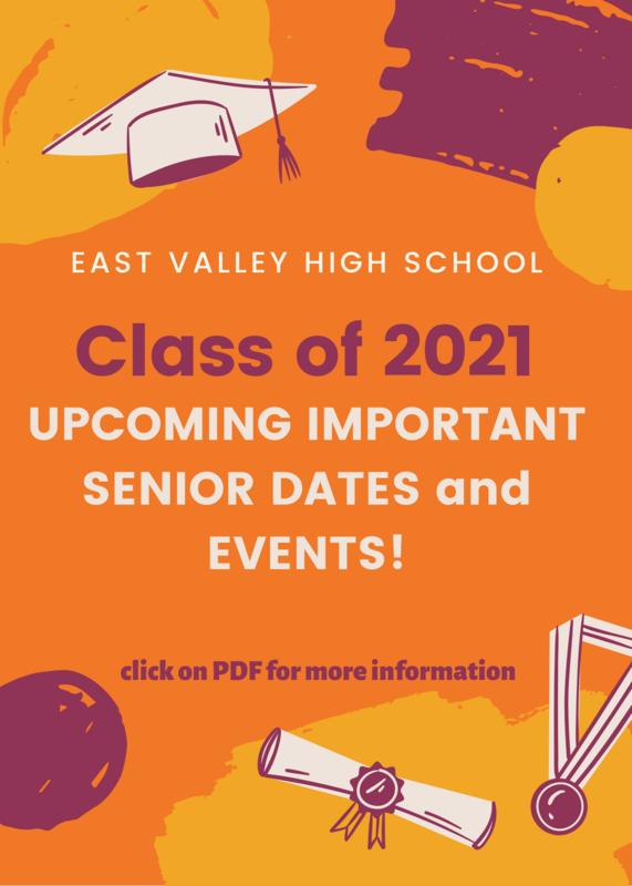 Upcoming Important Senior Dates Flyer Image