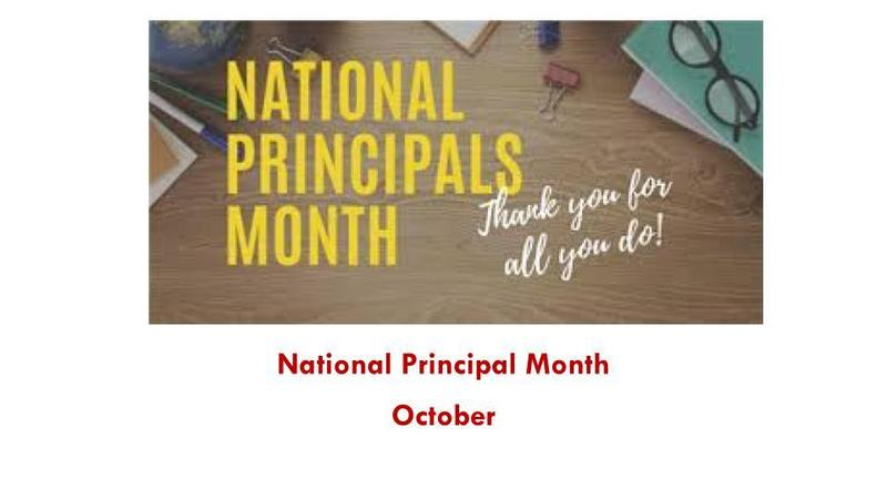 October is National Principals Month Featured Photo