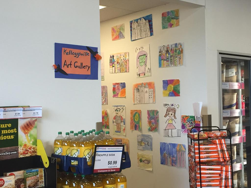 Daily Deals on Division invited Southeast and West to hang artwork in their store. Kids were excited to see their work while shopping with families. Next we will have artwork hung at Biggby at Divisions and 54th!